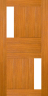 DC099SA 1020 Glazed Timber Entrance Door