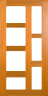 DG216S 1020 Glazed Timber Entrance Door