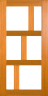 DG219S 1020 Glazed Timber Entrance Door