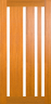 DG308S 1020 Glazed Timber Entrance Door