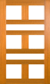 DGP215S Glazed Timber Entrance Door