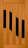 DGP311S Glazed Timber Entrance Door