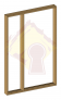 Pre-Hung Single Door Frame with One Sidelight 820mm
