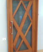 Custom Door Pre-Finished with Cutek Walnut