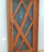 Custom Door Pre-Finished with Cutek Walnut